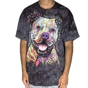 The Mountain Tie Dye Pit Bull Graphic T-Shirt XL